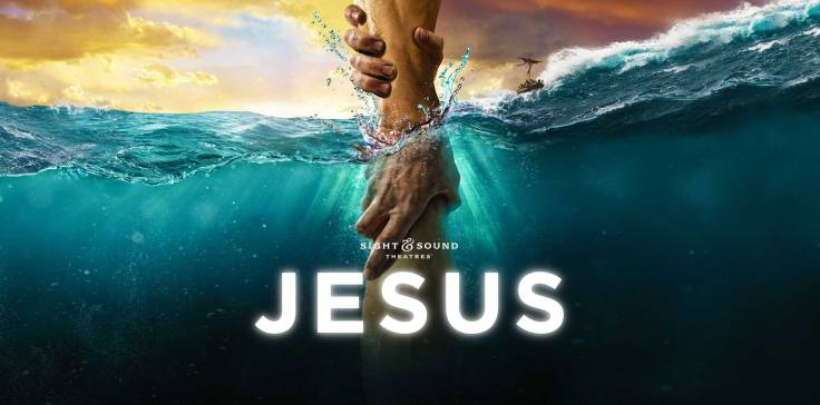 Logo for the show, Jesus, at Sight and Sound Theater